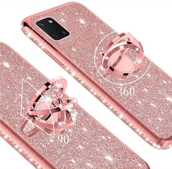 Etui do Samsung Galaxy Note 10 Lite - ERBORD Bling - Rose gold