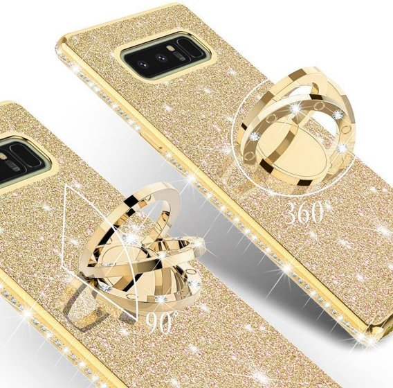Etui do Samsung Galaxy Note 8 - ERBORD Bling - Gold