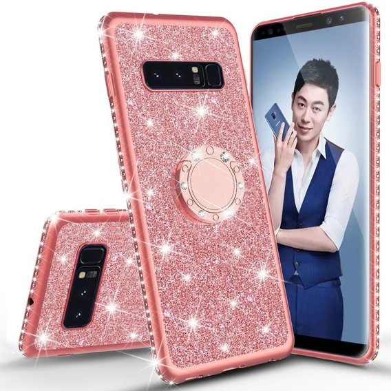 Etui do Samsung Galaxy S10 - ERBORD Bling - Rose Gold