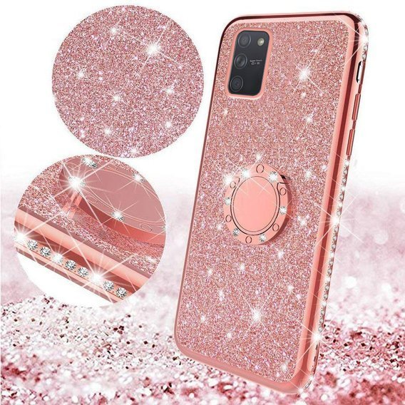 Etui do Samsung Galaxy S10 Lite - ERBORD Bling - Rose Gold