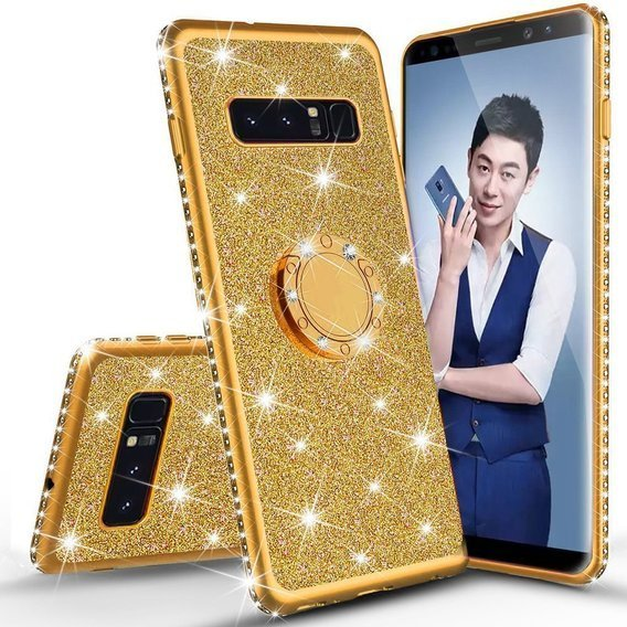 Etui do Samsung Galaxy S10+ Plus - ERBORD Bling - Gold