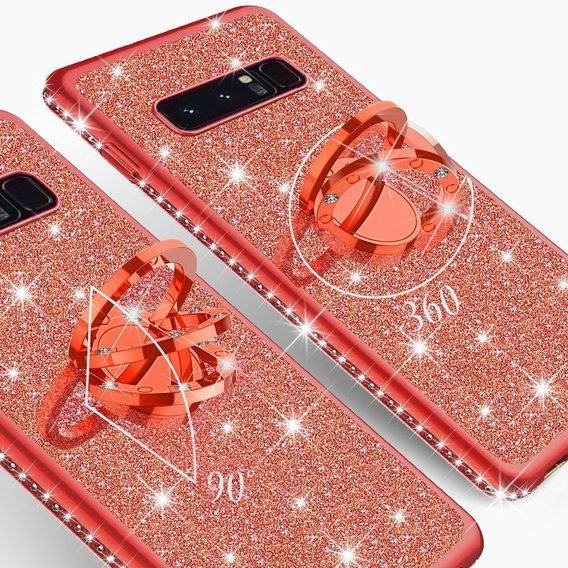 Etui do Samsung Galaxy S10+ Plus - ERBORD Bling - Red