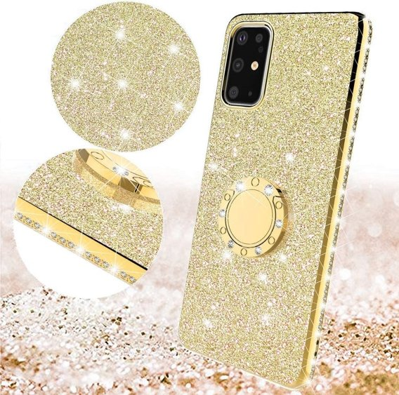 Etui do Samsung Galaxy S20 - ERBORD Bling - Gold