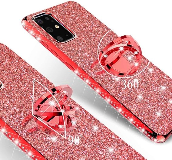 Etui do Samsung Galaxy S20 - ERBORD Bling - Red