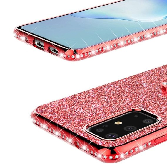 Etui do Samsung Galaxy S20+ Plus - ERBORD Bling - Red