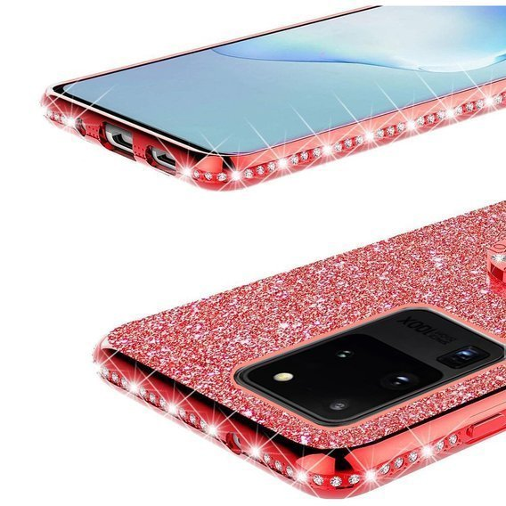Etui do Samsung Galaxy S20 Ultra - ERBORD Bling - Red