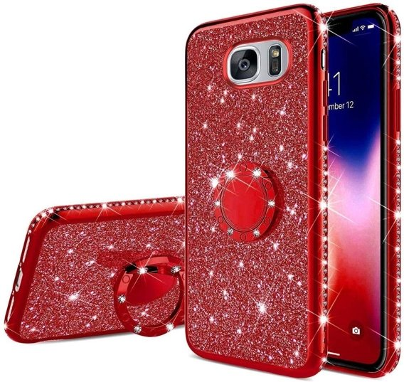 Etui do Samsung Galaxy S7 - ERBORD Bling - Red