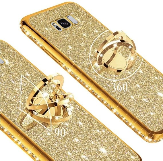Etui do Samsung Galaxy S8 - ERBORD Bling - gold