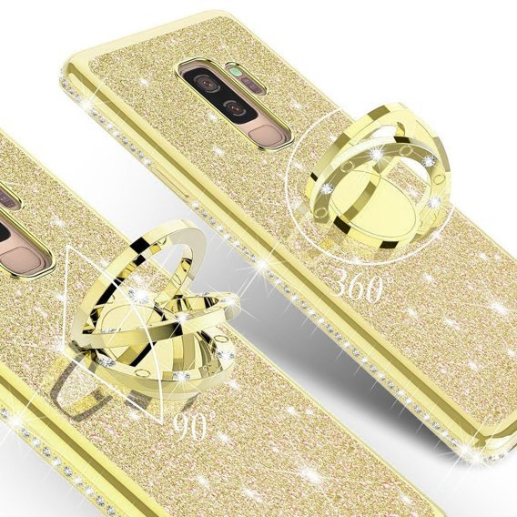 Etui do Samsung Galaxy S9+ Plus - ERBORD Bling - Gold
