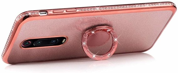 Etui do Xiaomi Mi 9T / 9T Pro - ERBORD Bling - Rose Gold