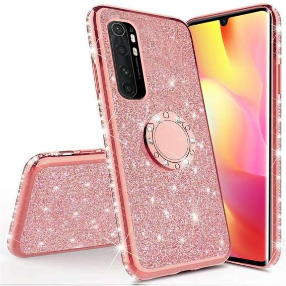 Etui do Xiaomi Mi Note 10 Lite - ERBORD Bling - Rose Gold