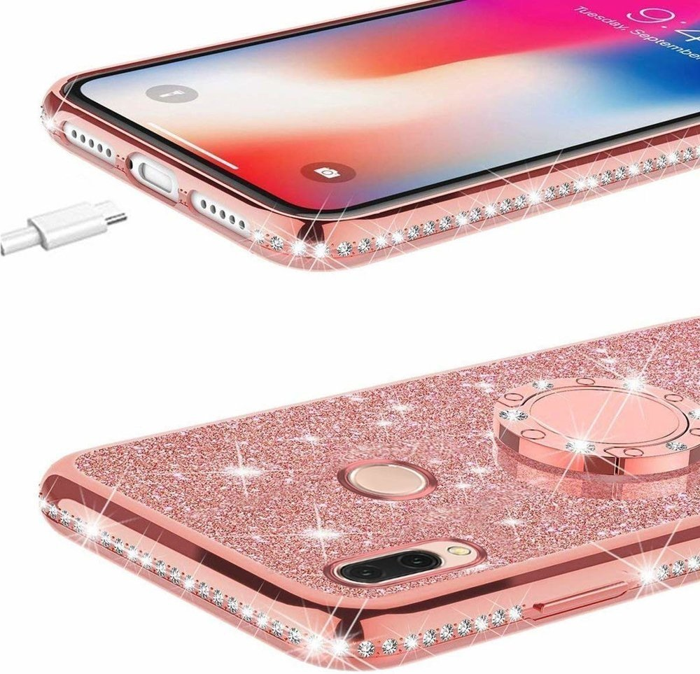 Etui do Xiaomi Redmi 7 - ERBORD Bling - Rose Gold