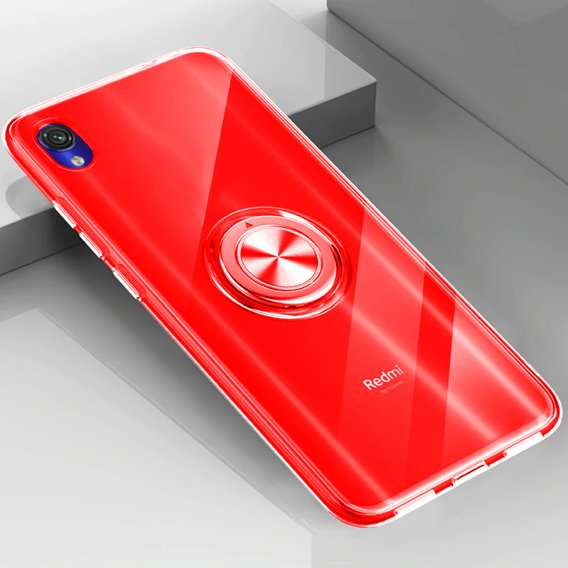 Etui do Xiaomi Redmi 7A - ERBORD Airbag Ring - Red