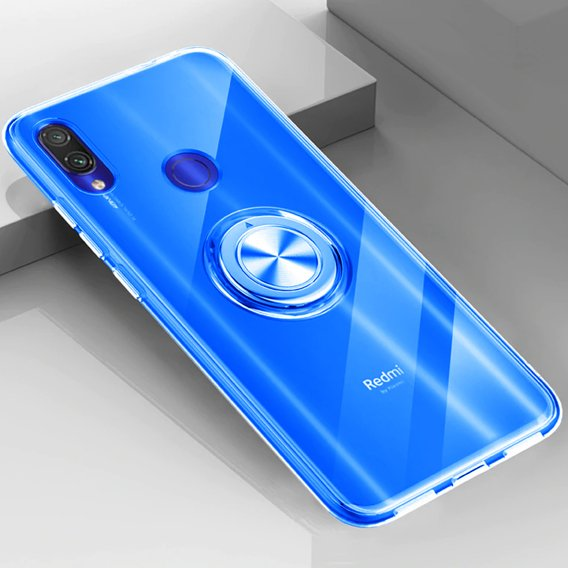 Etui do Xiaomi Redmi Note 7 - ERBORD Airbag Ring - Blue