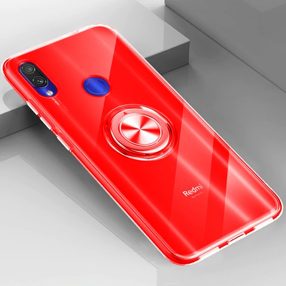 Etui do Xiaomi Redmi Note 7 - ERBORD Airbag Ring - Red
