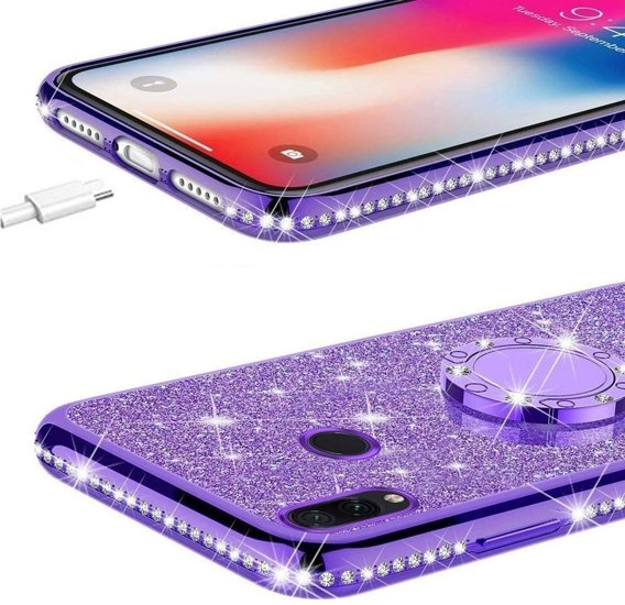 Etui do Xiaomi Redmi Note 7 - ERBORD Bling - Purple