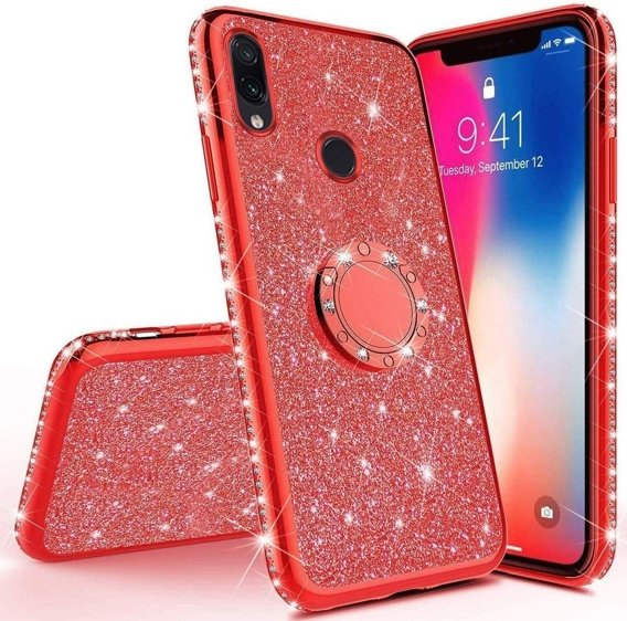 Etui do Xiaomi Redmi Note 7 - ERBORD Bling - Red