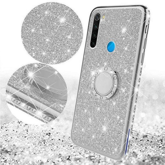 Etui do Xiaomi Redmi Note 8 - ERBORD Bling - Silver