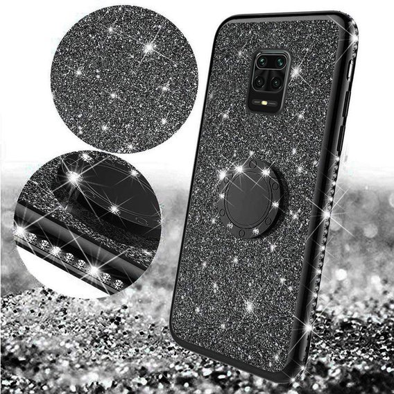 Etui do Xiaomi Redmi Note 9S/9 Pro/9 Pro Max - ERBORD Bling - Black