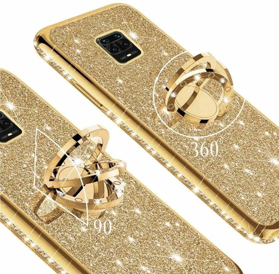 Etui do Xiaomi Redmi Note 9S/9 Pro/9 Pro Max - ERBORD Bling - Gold