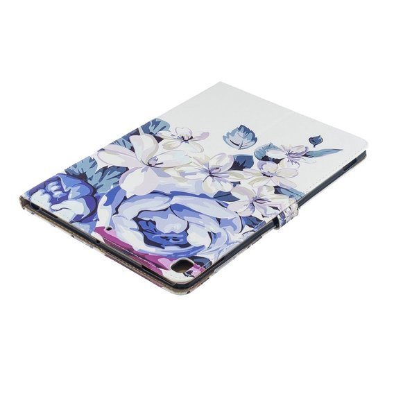 Etui do iPad 10.2 2019, Flexi Book, Blue Flower