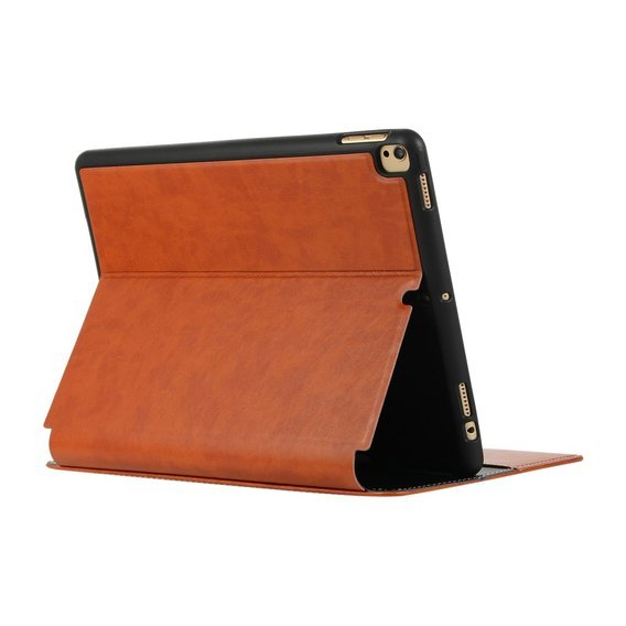 Etui do iPad 10.2 2019 - PU Leather Wallet - Brown