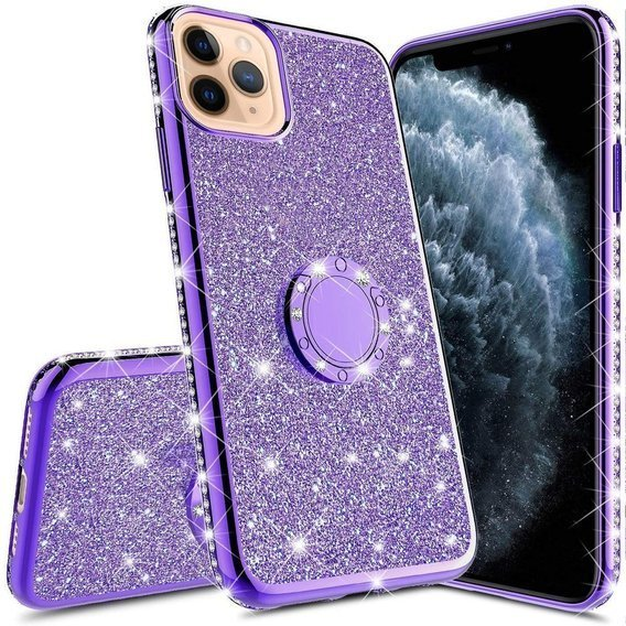 Etui do iPhone 11 - ERBORD Bling - Purple
