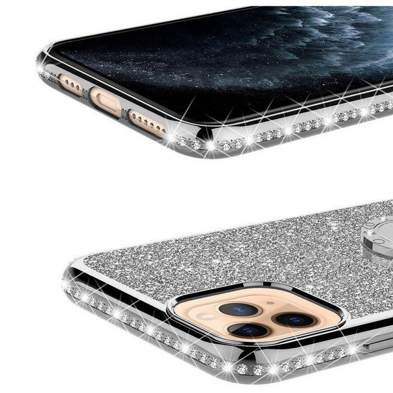 Etui do iPhone 11 - ERBORD Bling - Silver