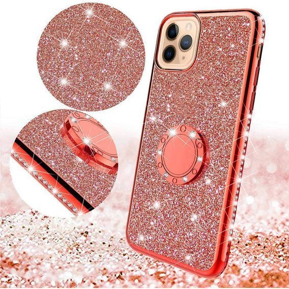 Etui do iPhone 11 Pro - ERBORD Bling - Red