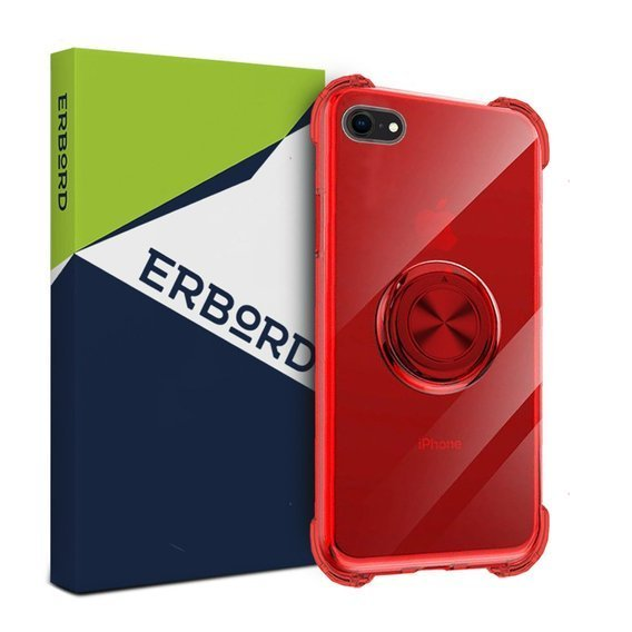Etui do iPhone 7/8 - ERBORD Airbag Ring - Red