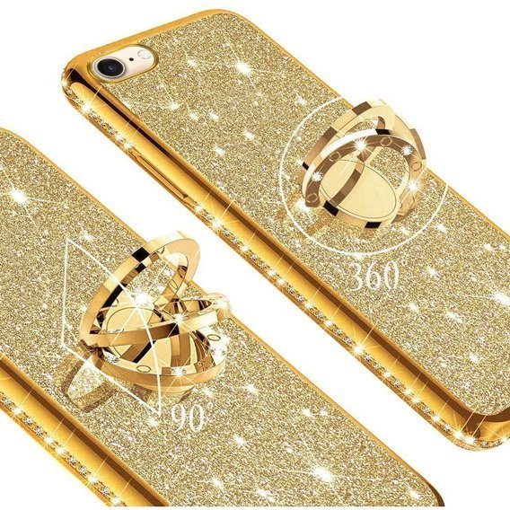 Etui do iPhone 7/8 - ERBORD Bling - gold