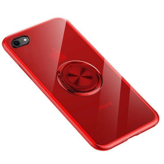 Etui do iPhone 7/8/SE 2020 - ERBORD Airbag Ring - Red