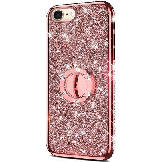 Etui do iPhone 7/8/SE 2020 - ERBORD Bling - Rose Gold