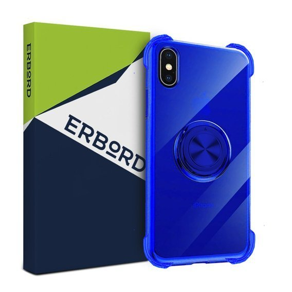 Etui do iPhone X / XS - ERBORD Airbag Ring - Blue