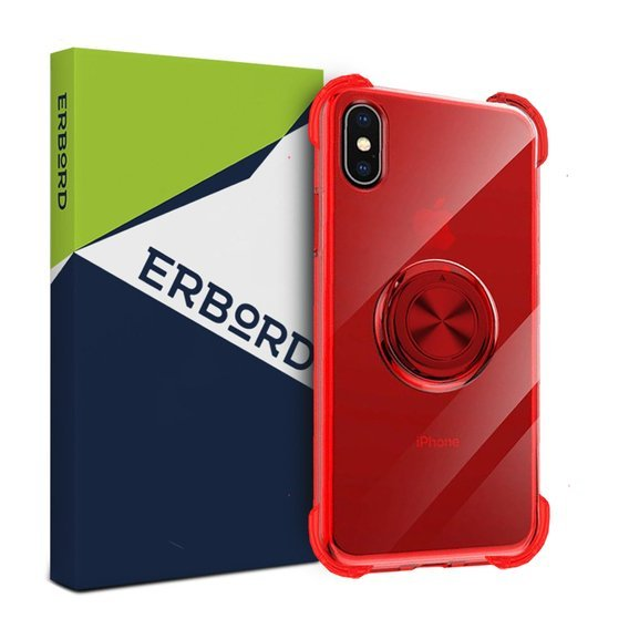 Etui do iPhone X / XS - ERBORD Airbag Ring - Red