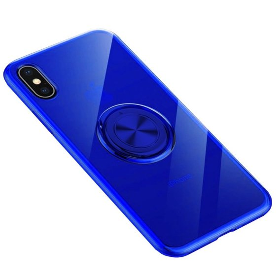 Etui do iPhone XR - ERBORD Airbag Ring - Blue