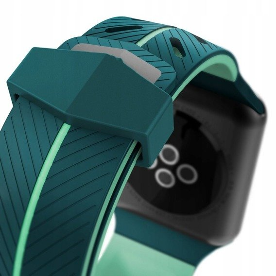 Gumowy Pasek Action do Apple Watch 1/2/3/4 (42/44MM) - Green/Mint