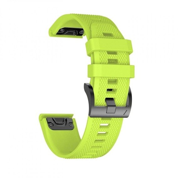 Gumowy Pasek Smooth TPU do zegarka Garmin Fenix 3/5X/3HR (26mm) - Green
