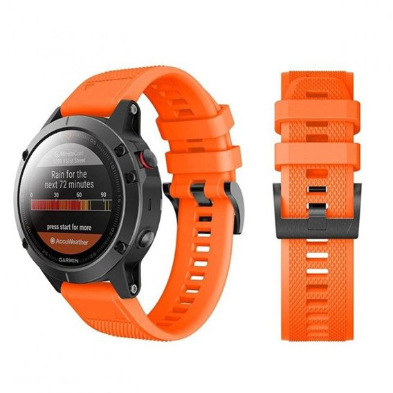 Pasek Smooth do Garmin Fenix 3/5X/3HR/5X Plus/6X/6X Pro - Light Orange