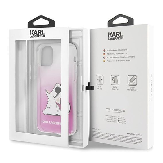 Karl Lagerfeld Etui do iPhone 11 Pro - Choupette Fun - Pink