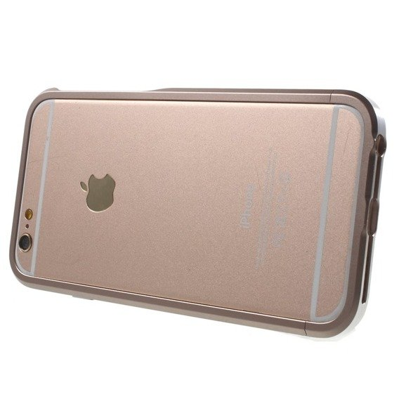 LJY SWORD 6+ Bumper 2-Tone Case Apple iPhone 6/6S 4.7 - Srebrno-złoty