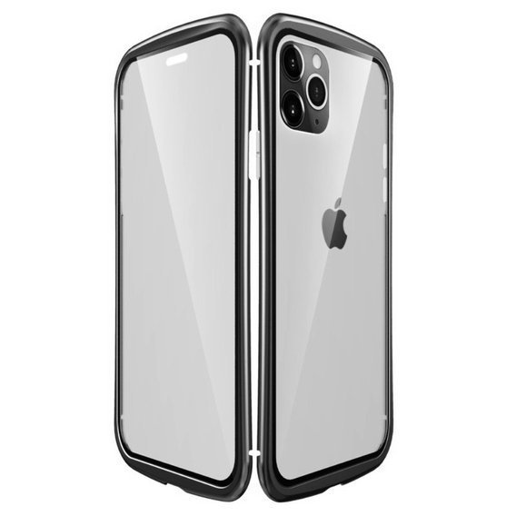 LUPHIE Etui do iPhone 11 Pro Max - Metal Glass - Black