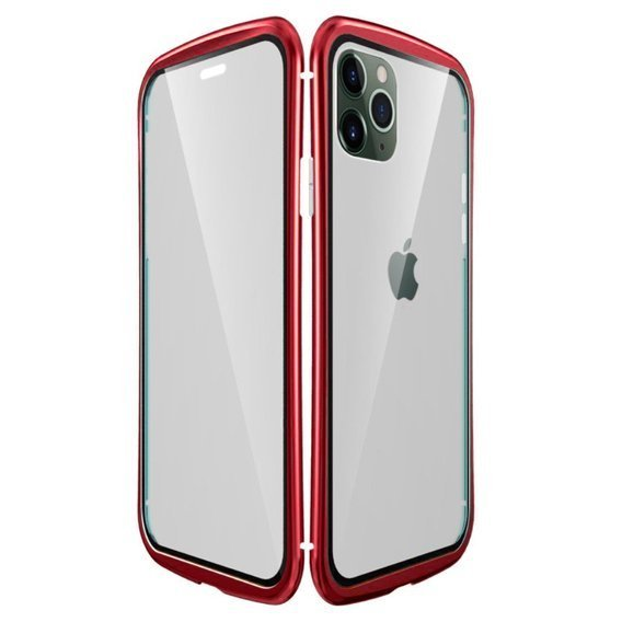 LUPHIE Etui do iPhone 11 Pro Max - Metal Glass - Red