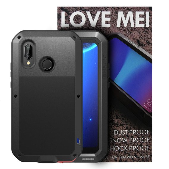 Love Mei Etui Powerful Defender Huawei P20 Lite - Black