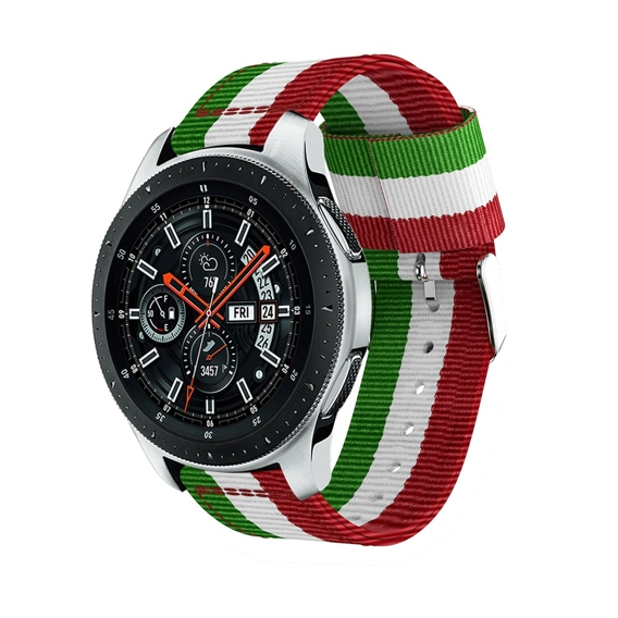 Nylonowy Pasek Welling do Samsung Galaxy Watch 46mm - Green/White/Red