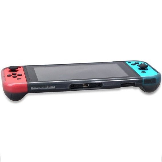OIVO Etui Gel Crystal Cover + folia do Nintendo Switch - Grey