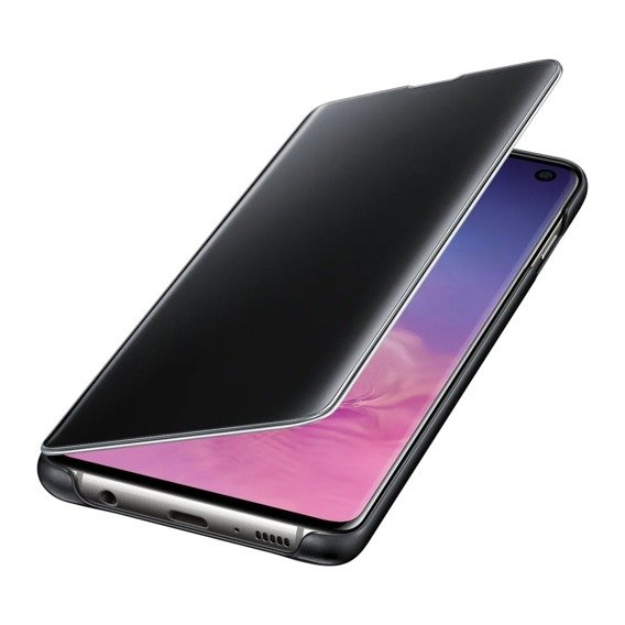 Oryginalne Etui Clear View Cover SAMSUNG Galaxy S10 - Black OUTLET