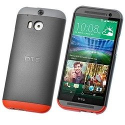 Oryginalne Etui Double Dip Hard Shell HTC HC C940 do ONE M8 - Szare