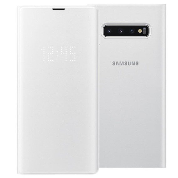 Oryginalne Etui LED View Cover Samsung Galaxy S10+ Plus - White