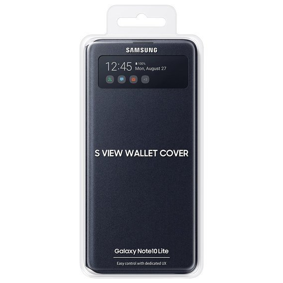 Oryginalne Etui S-View Wallet Cover SAMSUNG Galaxy Note 10 Lite - Black